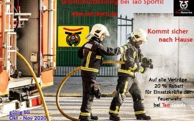 Rabatt für Einsatzkräfte der Feuerwehr – Selbstschutz Training – Deeskalationstraining