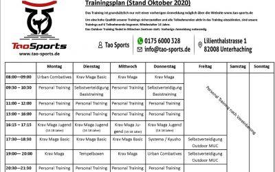Neuer Trainingsplan bei Tao Sports Selbstverteidigung München