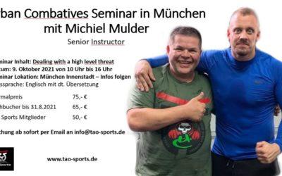 Urban Combatives Seminar in München am 9./10. Oktober 2021mit  Michiel Mulder and Xenia Rooders