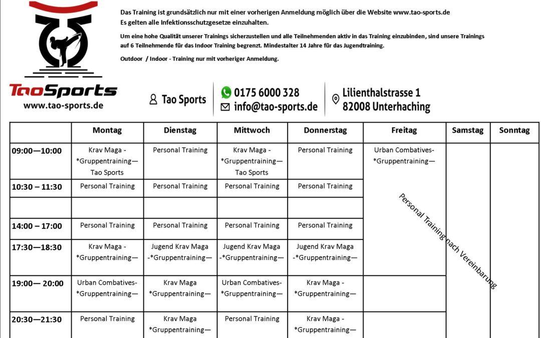 Trainingsplan July 2021 – Tao Sports Selbstverteidigung München