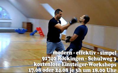 Urban Combatives Einsteiger Workshops am 17.08 und 24.08.2021 in 91740 Röckingen